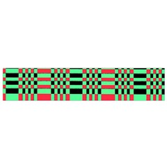 Bright Christmas Abstract Background Christmas Colors Of Red Green And Black Make Up This Abstract Flano Scarf (Small)