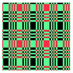 Bright Christmas Abstract Background Christmas Colors Of Red Green And Black Make Up This Abstract Large Satin Scarf (Square)