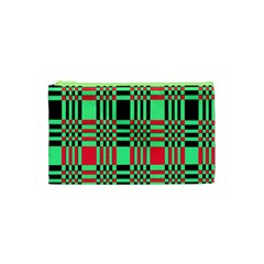 Bright Christmas Abstract Background Christmas Colors Of Red Green And Black Make Up This Abstract Cosmetic Bag (xs)