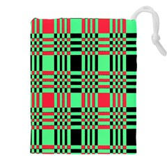 Bright Christmas Abstract Background Christmas Colors Of Red Green And Black Make Up This Abstract Drawstring Pouches (xxl)