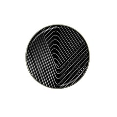 Chrome Abstract Pile Of Chrome Chairs Detail Hat Clip Ball Marker (4 Pack)