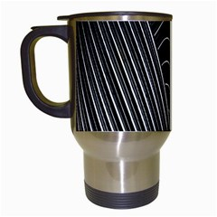 Chrome Abstract Pile Of Chrome Chairs Detail Travel Mugs (White)