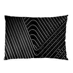 Chrome Abstract Pile Of Chrome Chairs Detail Pillow Case