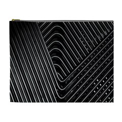 Chrome Abstract Pile Of Chrome Chairs Detail Cosmetic Bag (XL)