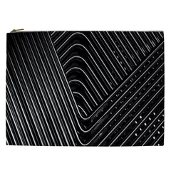 Chrome Abstract Pile Of Chrome Chairs Detail Cosmetic Bag (XXL)