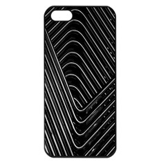 Chrome Abstract Pile Of Chrome Chairs Detail Apple Iphone 5 Seamless Case (black)
