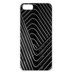 Chrome Abstract Pile Of Chrome Chairs Detail Apple Iphone 5 Seamless Case (white)