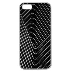 Chrome Abstract Pile Of Chrome Chairs Detail Apple Seamless iPhone 5 Case (Clear)