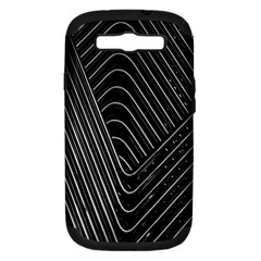 Chrome Abstract Pile Of Chrome Chairs Detail Samsung Galaxy S III Hardshell Case (PC+Silicone)