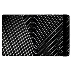 Chrome Abstract Pile Of Chrome Chairs Detail Apple Ipad 3/4 Flip Case