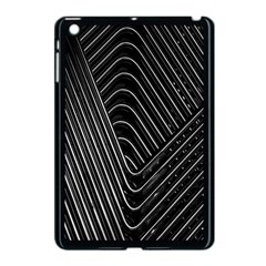 Chrome Abstract Pile Of Chrome Chairs Detail Apple iPad Mini Case (Black)