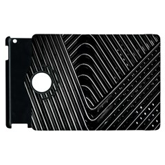 Chrome Abstract Pile Of Chrome Chairs Detail Apple iPad 2 Flip 360 Case