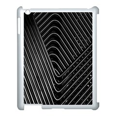 Chrome Abstract Pile Of Chrome Chairs Detail Apple iPad 3/4 Case (White)