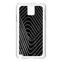 Chrome Abstract Pile Of Chrome Chairs Detail Samsung Galaxy Note 3 N9005 Case (White)