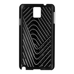 Chrome Abstract Pile Of Chrome Chairs Detail Samsung Galaxy Note 3 N9005 Case (black)