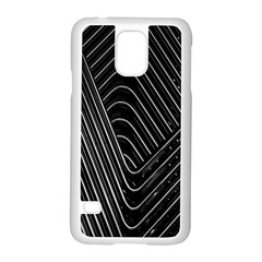 Chrome Abstract Pile Of Chrome Chairs Detail Samsung Galaxy S5 Case (White)