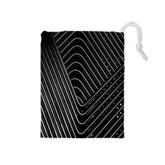 Chrome Abstract Pile Of Chrome Chairs Detail Drawstring Pouches (medium)
