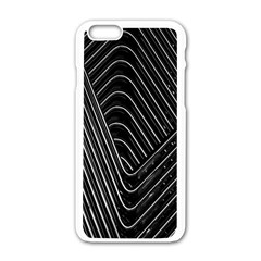 Chrome Abstract Pile Of Chrome Chairs Detail Apple Iphone 6/6s White Enamel Case