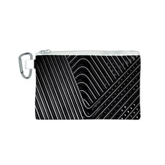 Chrome Abstract Pile Of Chrome Chairs Detail Canvas Cosmetic Bag (s)