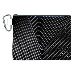Chrome Abstract Pile Of Chrome Chairs Detail Canvas Cosmetic Bag (xxl)