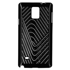 Chrome Abstract Pile Of Chrome Chairs Detail Samsung Galaxy Note 4 Case (Black)
