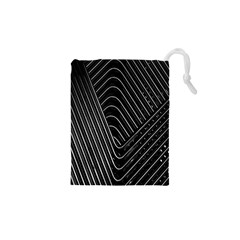 Chrome Abstract Pile Of Chrome Chairs Detail Drawstring Pouches (xs)