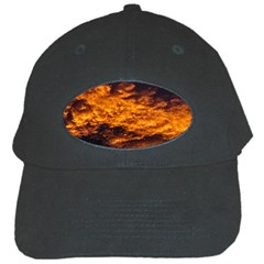 Abstract Orange Black Sunset Clouds Black Cap