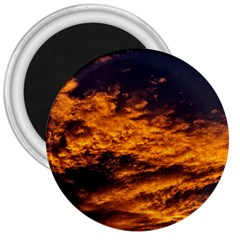 Abstract Orange Black Sunset Clouds 3  Magnets