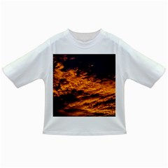 Abstract Orange Black Sunset Clouds Infant/Toddler T-Shirts
