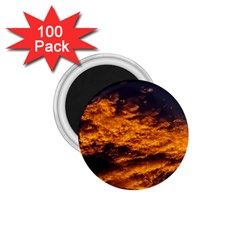 Abstract Orange Black Sunset Clouds 1 75  Magnets (100 Pack)