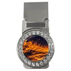 Abstract Orange Black Sunset Clouds Money Clips (cz)
