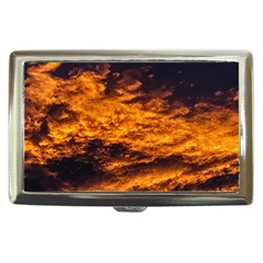 Abstract Orange Black Sunset Clouds Cigarette Money Cases