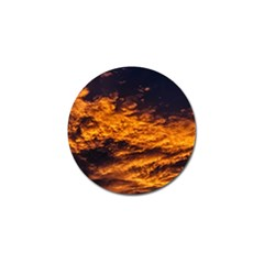 Abstract Orange Black Sunset Clouds Golf Ball Marker (4 Pack)