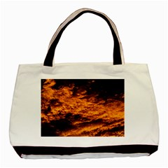 Abstract Orange Black Sunset Clouds Basic Tote Bag (two Sides)