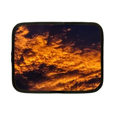 Abstract Orange Black Sunset Clouds Netbook Case (small)