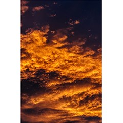 Abstract Orange Black Sunset Clouds 5 5  X 8 5  Notebooks
