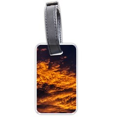 Abstract Orange Black Sunset Clouds Luggage Tags (two Sides)