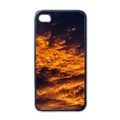 Abstract Orange Black Sunset Clouds Apple Iphone 4 Case (black)