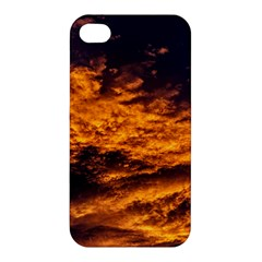 Abstract Orange Black Sunset Clouds Apple iPhone 4/4S Premium Hardshell Case