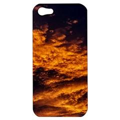 Abstract Orange Black Sunset Clouds Apple iPhone 5 Hardshell Case