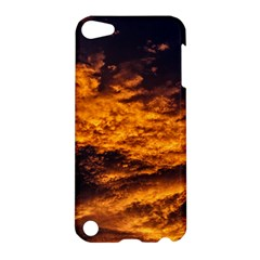 Abstract Orange Black Sunset Clouds Apple Ipod Touch 5 Hardshell Case