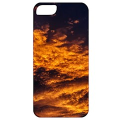 Abstract Orange Black Sunset Clouds Apple iPhone 5 Classic Hardshell Case