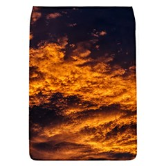 Abstract Orange Black Sunset Clouds Flap Covers (L)