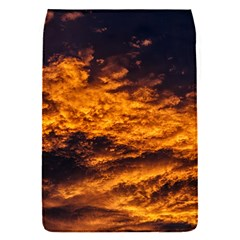 Abstract Orange Black Sunset Clouds Flap Covers (S)