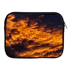 Abstract Orange Black Sunset Clouds Apple iPad 2/3/4 Zipper Cases