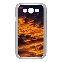 Abstract Orange Black Sunset Clouds Samsung Galaxy Grand DUOS I9082 Case (White)
