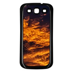 Abstract Orange Black Sunset Clouds Samsung Galaxy S3 Back Case (Black)