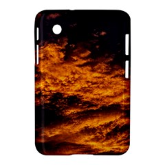 Abstract Orange Black Sunset Clouds Samsung Galaxy Tab 2 (7 ) P3100 Hardshell Case