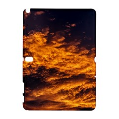 Abstract Orange Black Sunset Clouds Galaxy Note 1