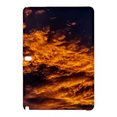 Abstract Orange Black Sunset Clouds Samsung Galaxy Tab Pro 10.1 Hardshell Case
